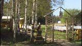 Russian Village Yard stock footage