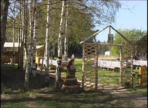russian village yard Stock Video Footage