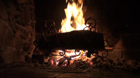 Wood burning Stock Video Footage
