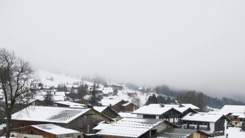 Time lapse of fog Stock Video Footage