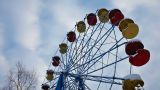 Carousel And Sky In Winter Park stock footage