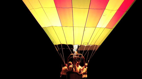 Hot Air Balloon Glowing Stock Video Footage
