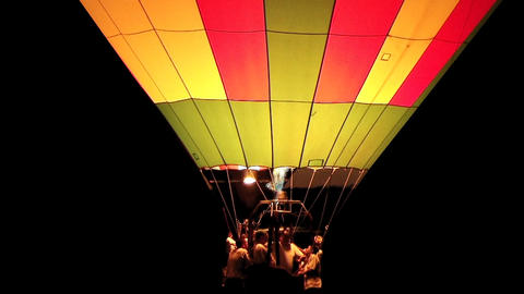 Hot Air Balloon Glowing Footage