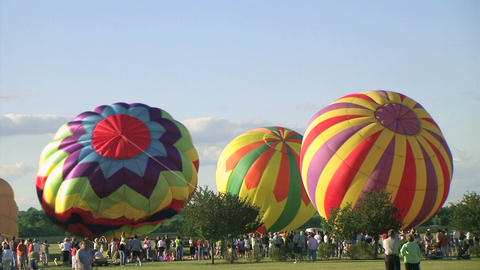 Hot Air Balloon Time Lapse Stock Video Footage