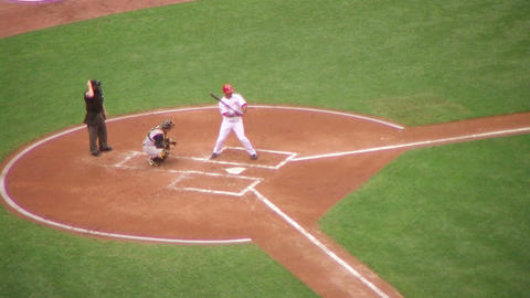 Baseball Batter Fly Out Stock Video Footage