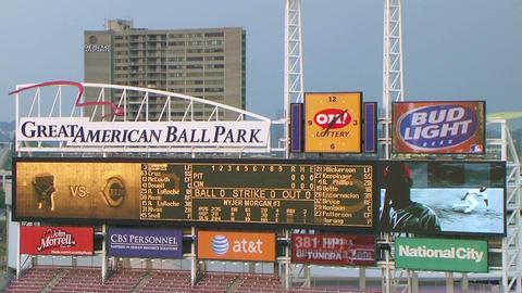 Electronic Baseball Scoreboard Stock Video Footage