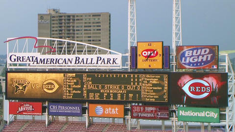Electronic Baseball Scoreboard Stock Video Footage