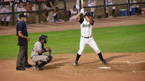 Catcher Drops Ball on Strikeout Stock Video Footage