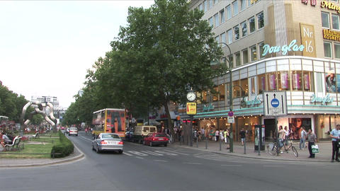View Of City Street In Berlin Germany stock footage