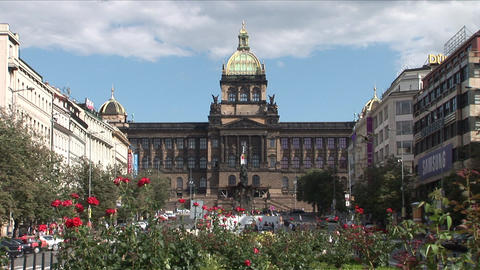 National Museum In Prague Czech Republic stock footage