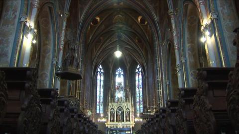Interior view of a church in Prague Czech Republic Live Action