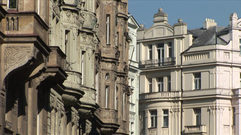 View of buildings in Prague Czech Republic Footage