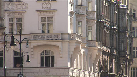 View of a building in Prague Czech Republic Stock Video Footage