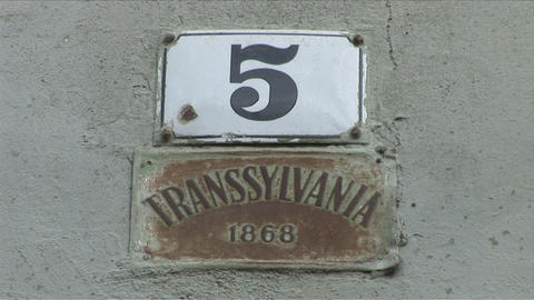 Transylvania Sign in Romania Footage