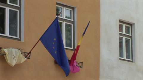 European Union Flag stock footage