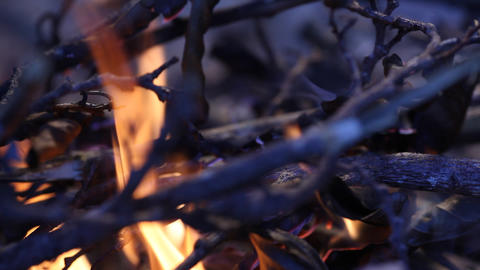 Fire Burns stock footage