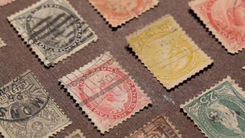 Old Stamps stock footage