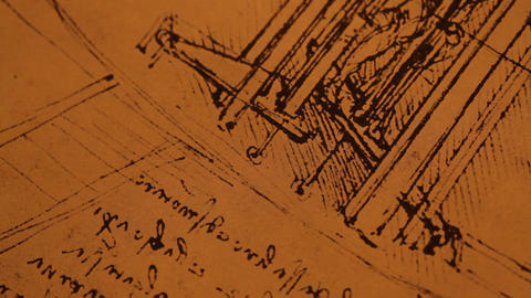 Old Engineering Drawing stock footage