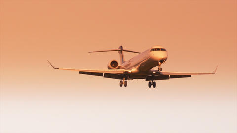 Airport Nuremberg Landing Plane 2 stock footage