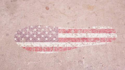 Leaving Mark Footprint USA Footage