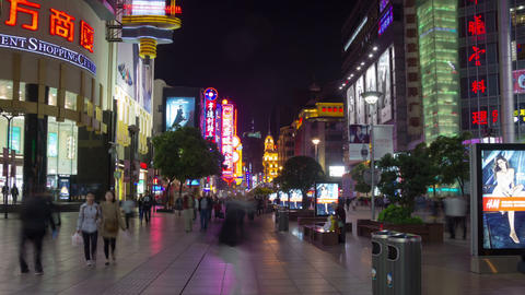Nanning street night hyperlapse Footage