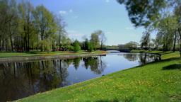 Scenic spring landscape Tilt Footage