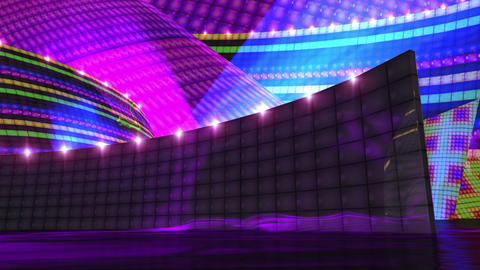 Disco virtual set stage color Animation