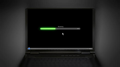 Decoding fail black laptop screen Animation