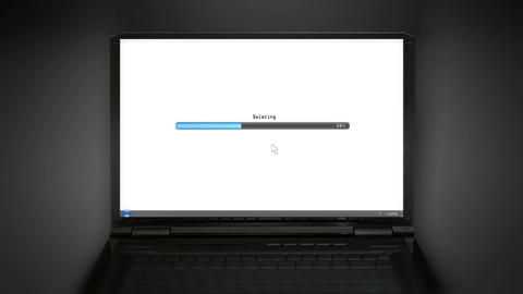 Deleting laptop screen Animation