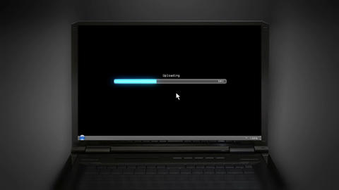 Uploading black laptop screen Animation