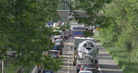 4K, Traffic on german streets (Audio) Filmmaterial