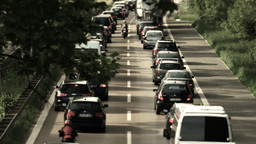 Traffic on german streets Filmmaterial