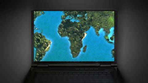 Internet Zoom In The World Map stock footage
