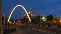 CNE Entrance Arch Time-Lapse stock footage