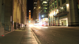 Bay Street Toronto Night Time Lapse Footage