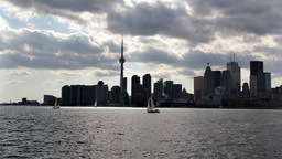 Toronto Harbour Time-Lapse 1 stock footage