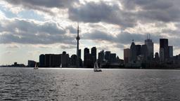 Toronto Harbour Time-Lapse 1 stock footage