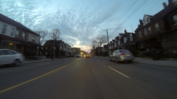 Drive Into Toronto Time Lapse 1 stock footage