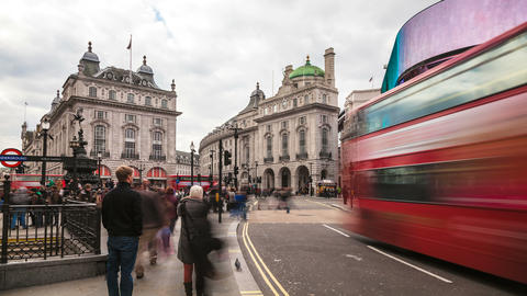 London Time Lapse 4K - Piccadilly Circus Footage
