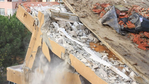 Demolished Block Of Flats stock footage