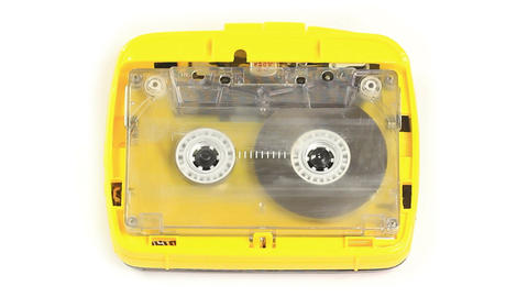 Cassette Tape Player Playing / Recording stock footage