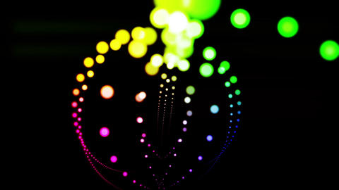 Composition with colored particles Footage