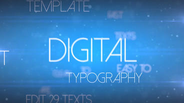 Digital Typography - After Effects Template After Effects Template