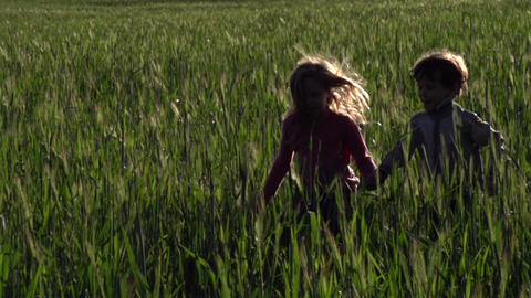 Running Children Footage