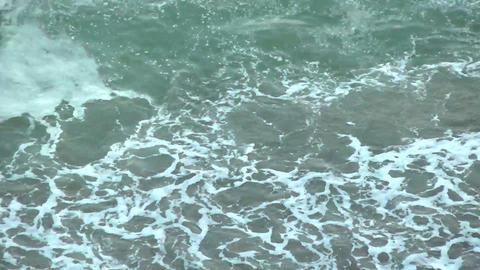 Ocean seascape in a sandy area Footage