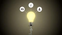 Creative light bulb Animation