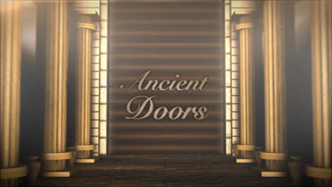 Ancient Doors Texts - After Effects Template After Effects Template