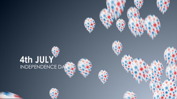 4th July background, Stock Animation