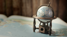 World globe close up HD stock footage Footage