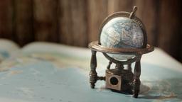 World Globe Close Up HD Stock Footage stock footage